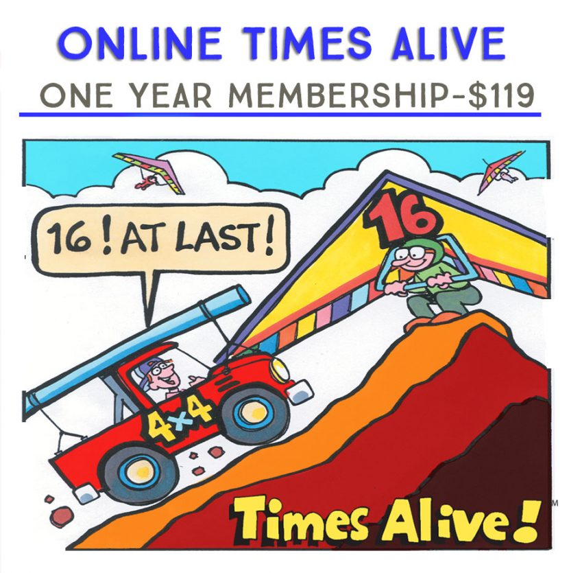 One year Membership Online Times Alive