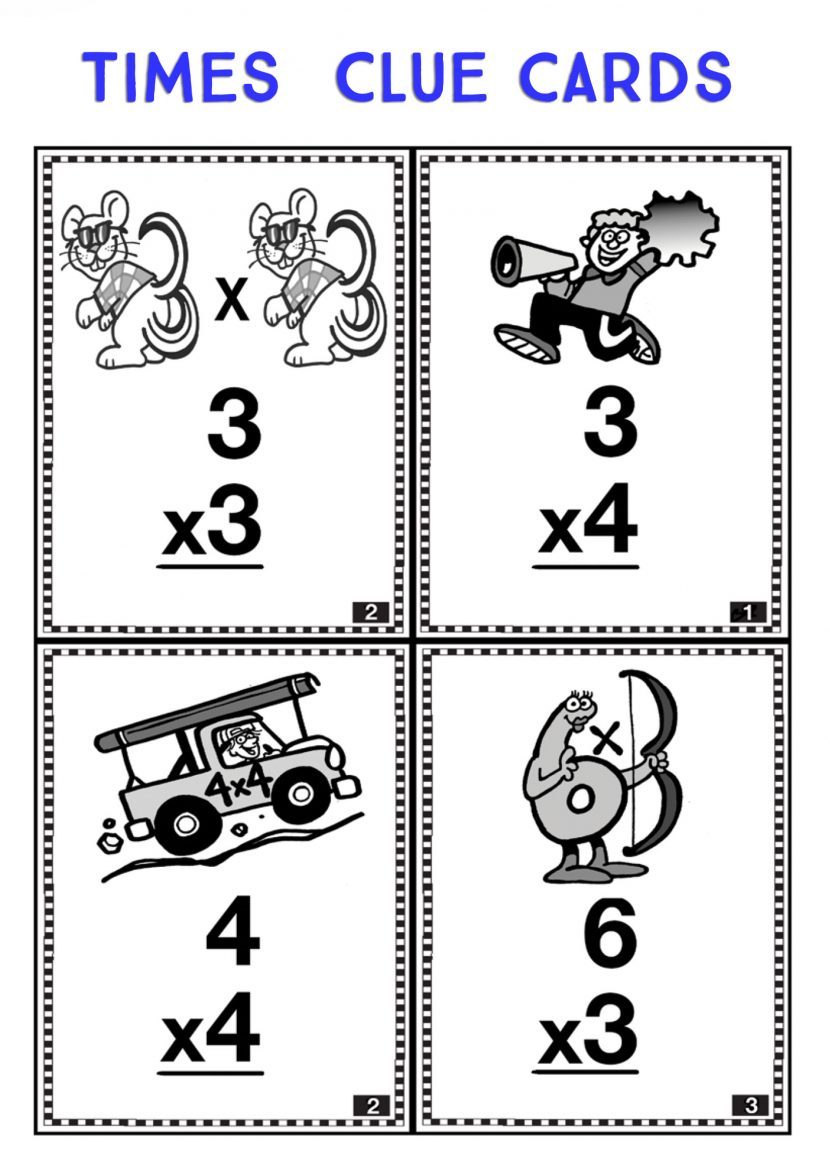 Times Clue Cards