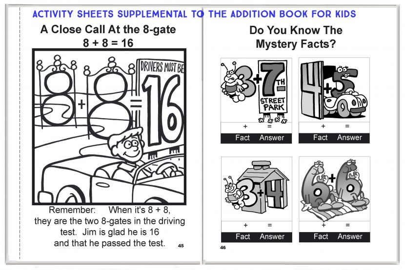 Addition Activity Sheets