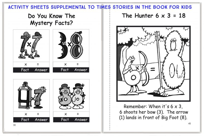 Times Activity Sheets