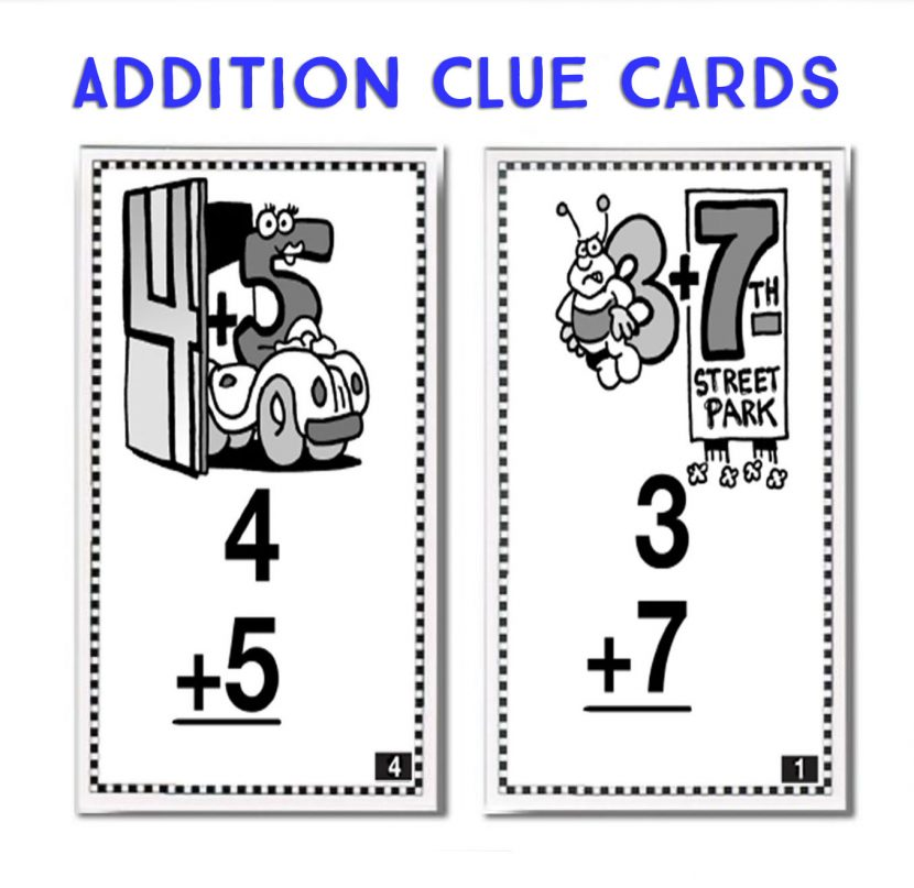 Addition Clue Cards