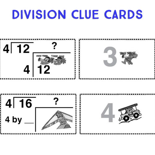 Division Clue Cards