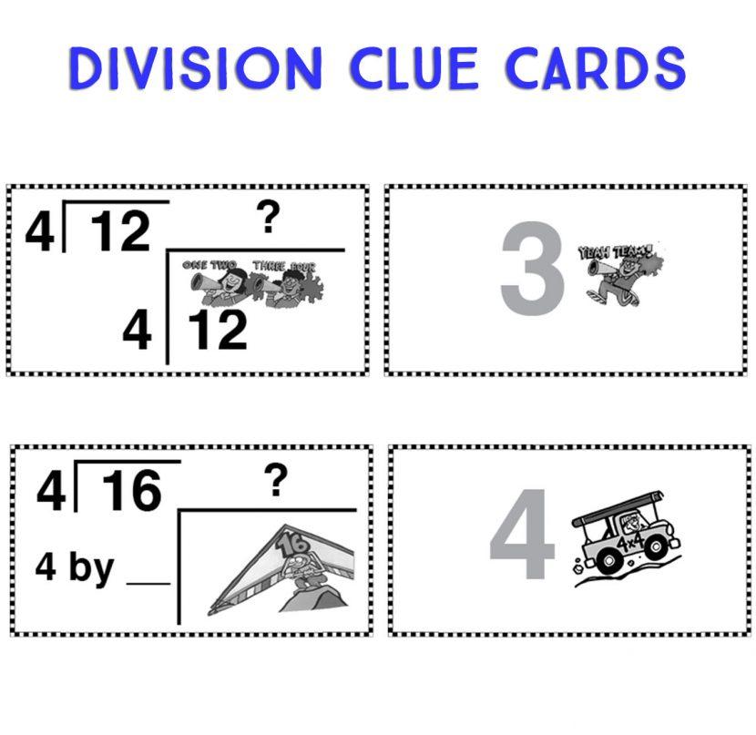 Division Clue Cards