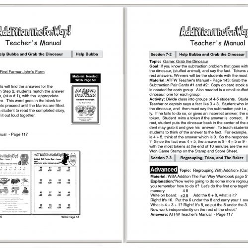 Addition Teacher's Manual